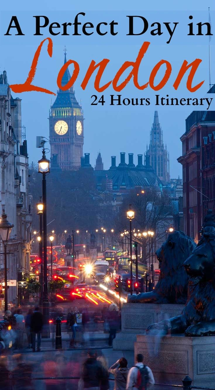 24 hours in London Itinerary. Travel tips for a day in London, what to do and see from historical attractions to parks, museums and nightlife. Plus where to stay in London for a day and how to get around. The perfect London itinerary for first-timers.  #London #24inLondon #LondonFirstTime #LondonThingstodo #LondoninaDay #OneDayinLondon
