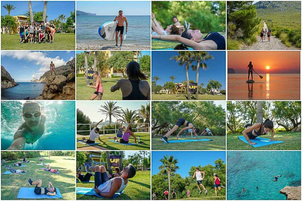 The Ultimate Fitness Holiday schedule was amazing, during the week we had high-intensity training, yoga, SUP, hikes, and a lot of free time to explore the island or exercise more.