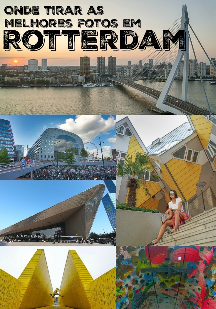 Arrume as malas e a câmera fotográfica e viaje Rotterdam. Listamos os 10 melhores lugares para tirar fotos em Rotterdam e damos dicas de como conseguir a foto perfeita. Descubra a arquitetura incrível, a comida, a cultura e arte da segunda maior cidade da Holanda. Rotterdam é uma das cidades européias mais legais para fotografia, um verdadeiro paraíso para quem curte viajar e fotografar.  #Rotterdam #Rotterdã #Holanda #Fotografiadeviagem #Viagem