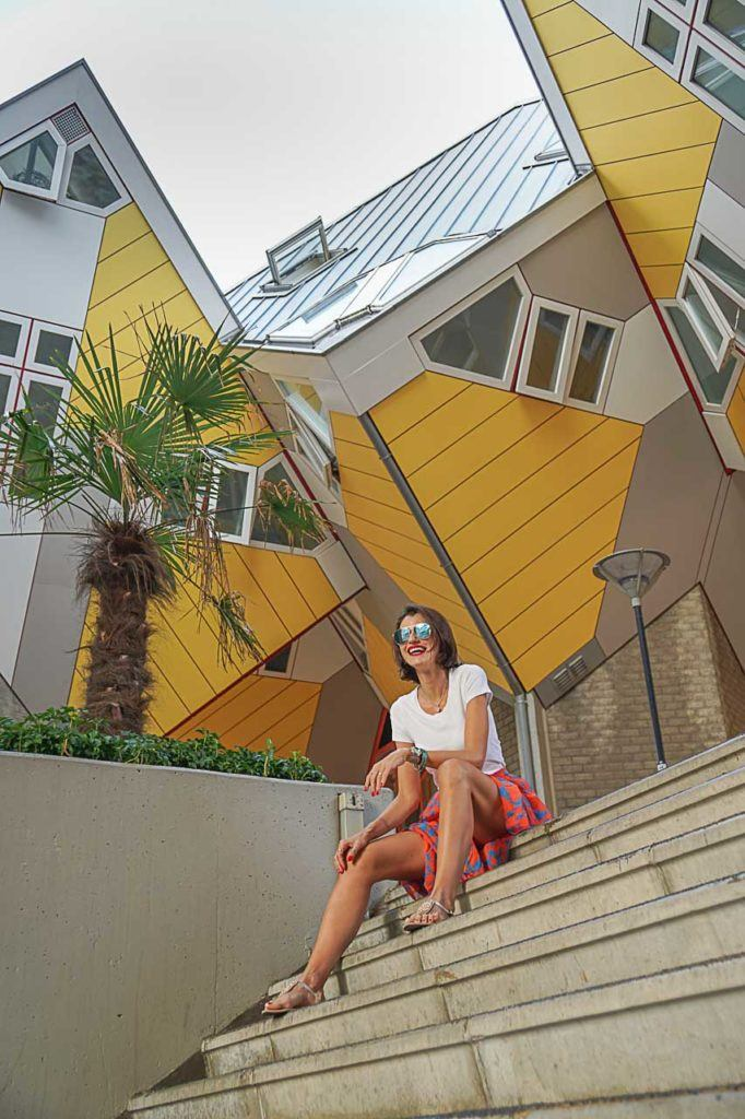 The Cube Houses are one of the most famous photo locations in Rotterdam, use your creativity to find different angles.