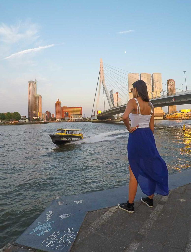 Water taxies are great fun and one of the best ways to travel around Rotterdam.