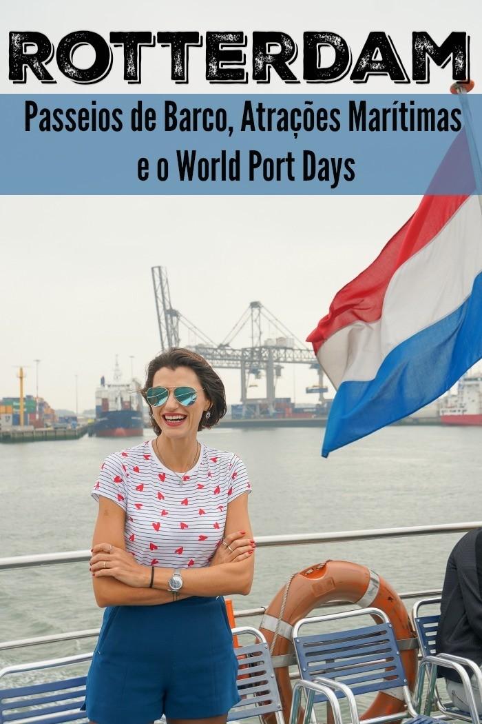 Descubra Rotterdam pela água. Os melhores passeios de barco em Rotterdam, atividades, o World Port Days e onde ficar em Rotterdam perto do rio e canais.