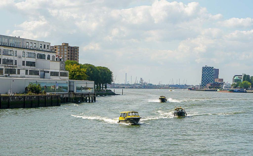 You must go on a boat tour in Rotterdam and also take a Water Taxi, the speed and fun are guaranteed.