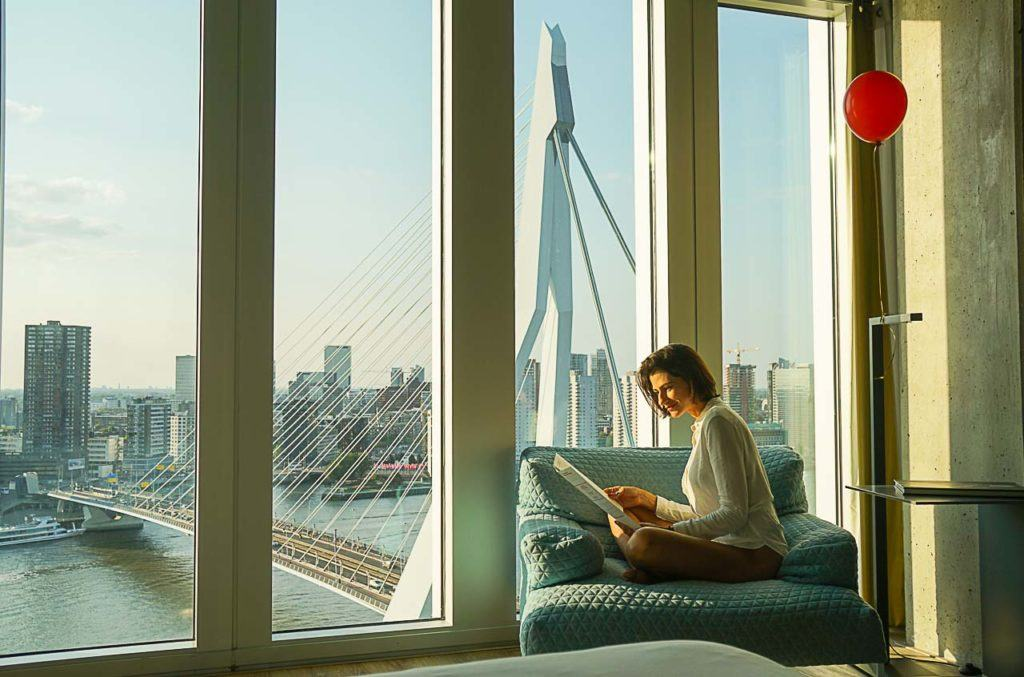 Want to have the best views of Rotterdam? Stay at Nhow hotel, you gonna love it.