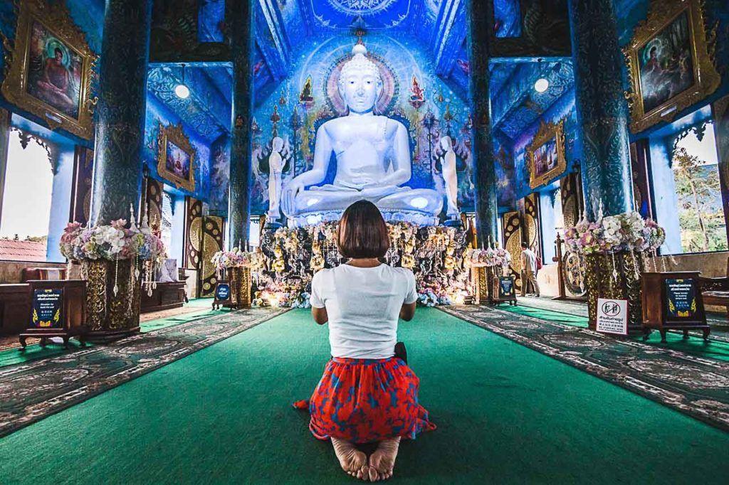 O Templo Azul foi a última parada do nosso tour em Chiang Rai.