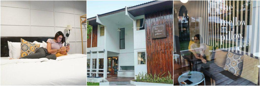 Há vários hotéis em Chiang Mai, nesta viagem eu fiquei no Mellow Pillow.