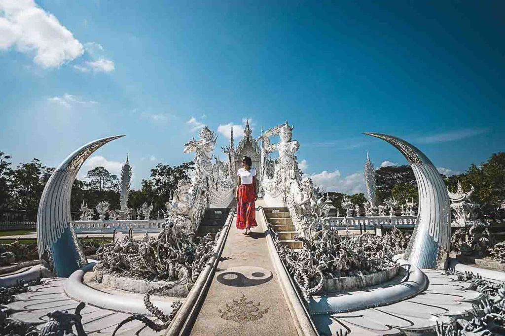A day trip to Chiang Rai must have a visit to the White Temple.