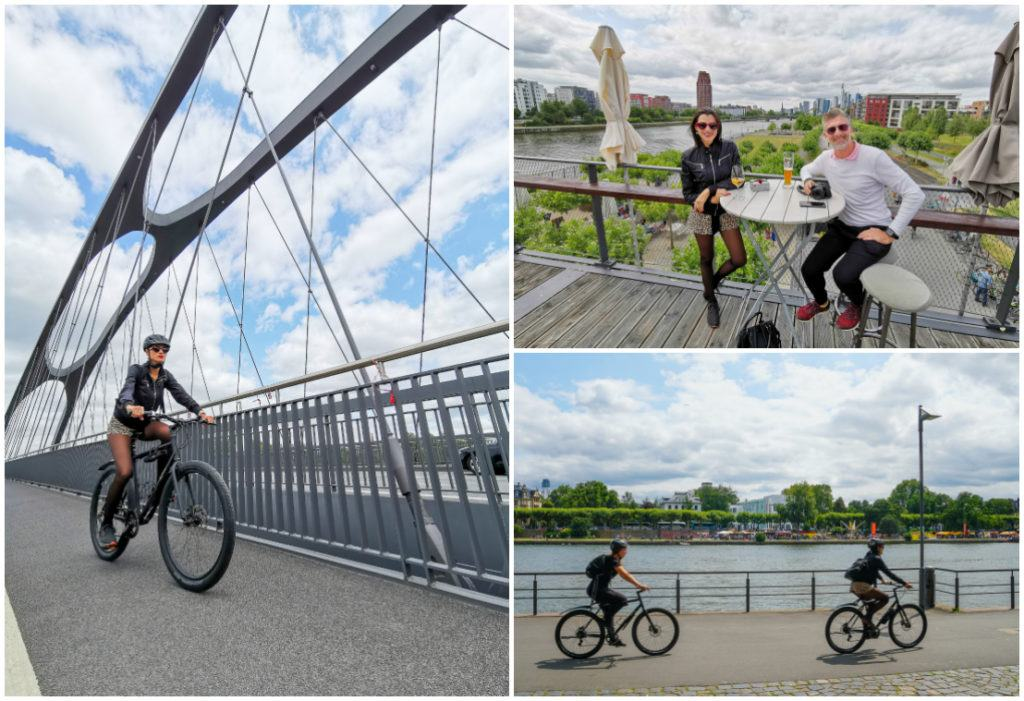Cycling around Frankfurt was one of the activities included on our Rolling on the Rhine River Cruise