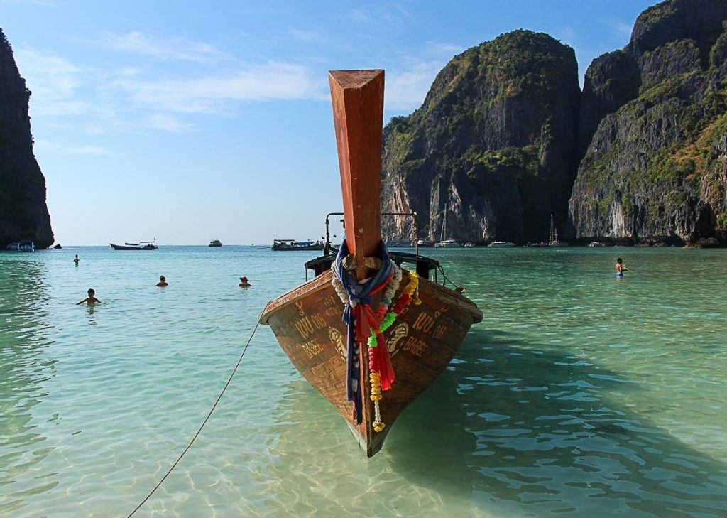 boat in Phi Phi Island thailand