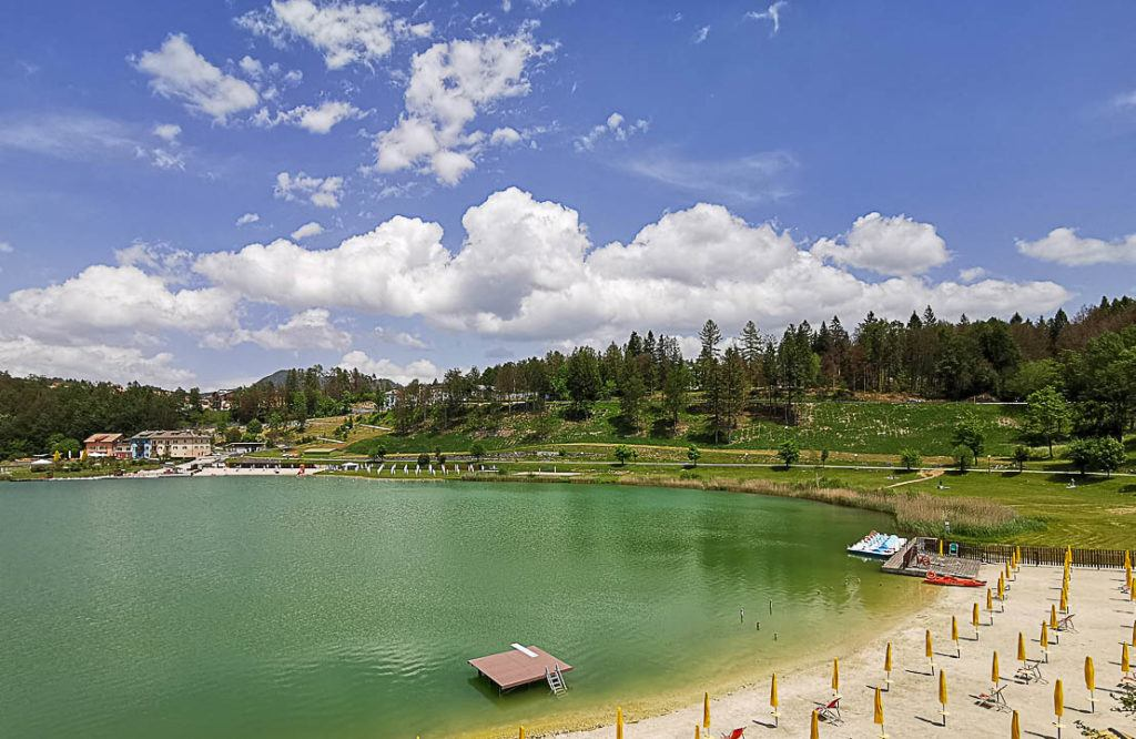 Visit Lake Lavarone in Alpe Cimbra summer.