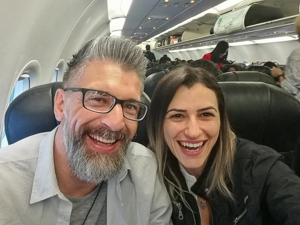 couple on plane to get to Phi Phi Island