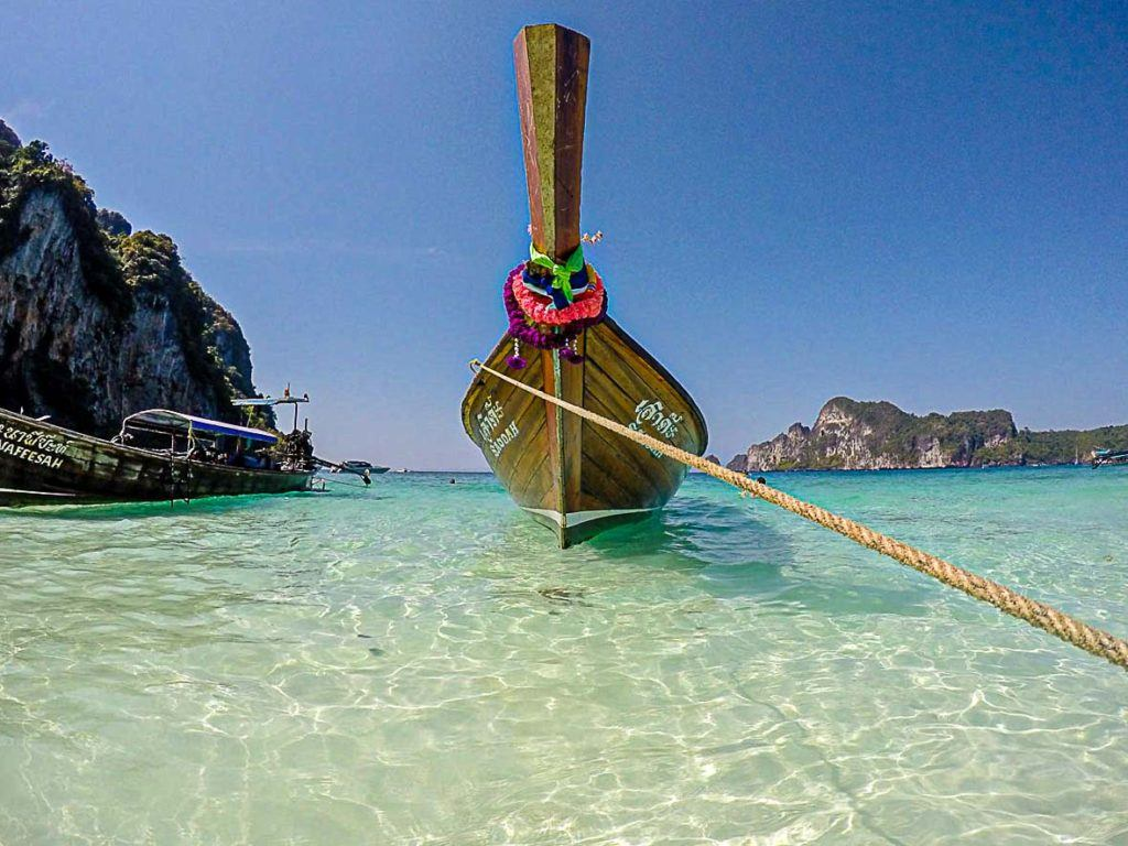 boat tours is a must do in Phi Phi Island Thailand