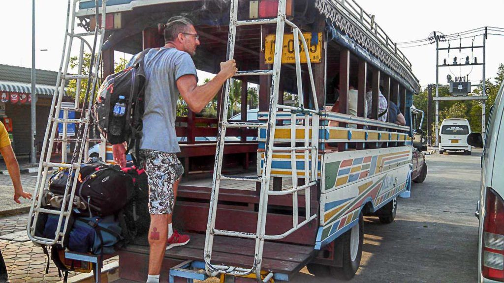 how to get to Phi Phi Island by bus