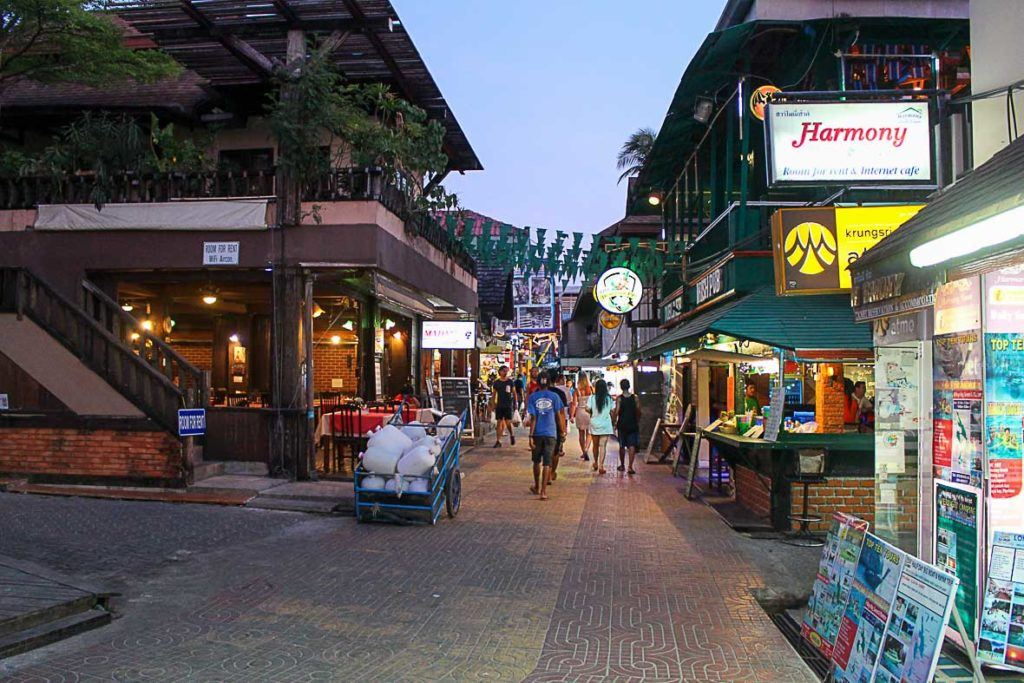 Stroll around the town is one of the things to do in Phi Phi Island
