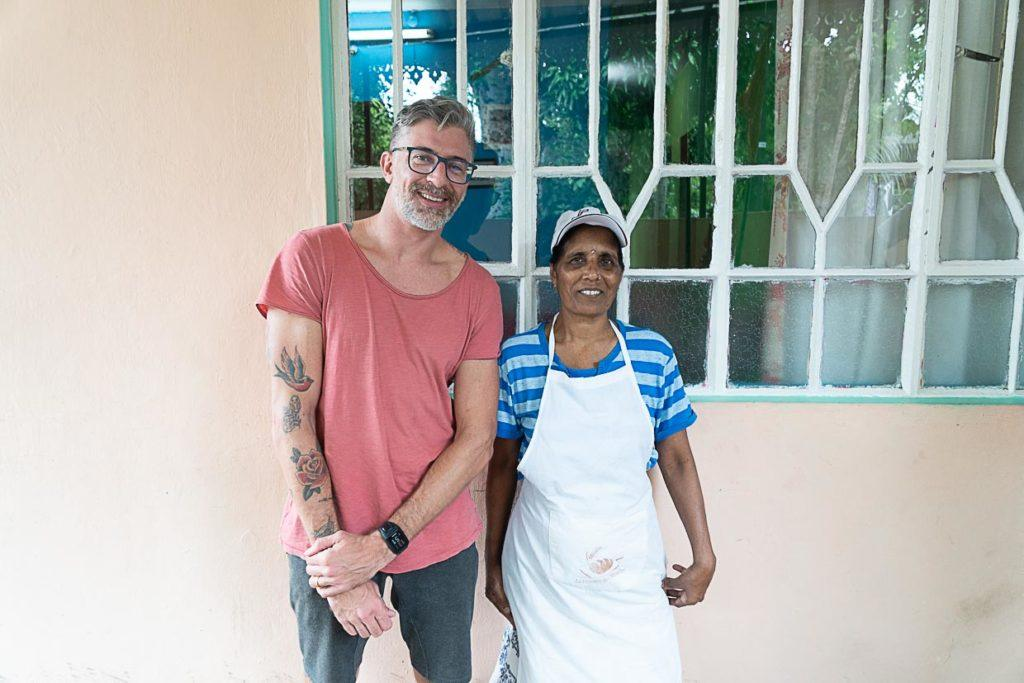 As pessoas das Ilhas Maurício são muito amigáveis.