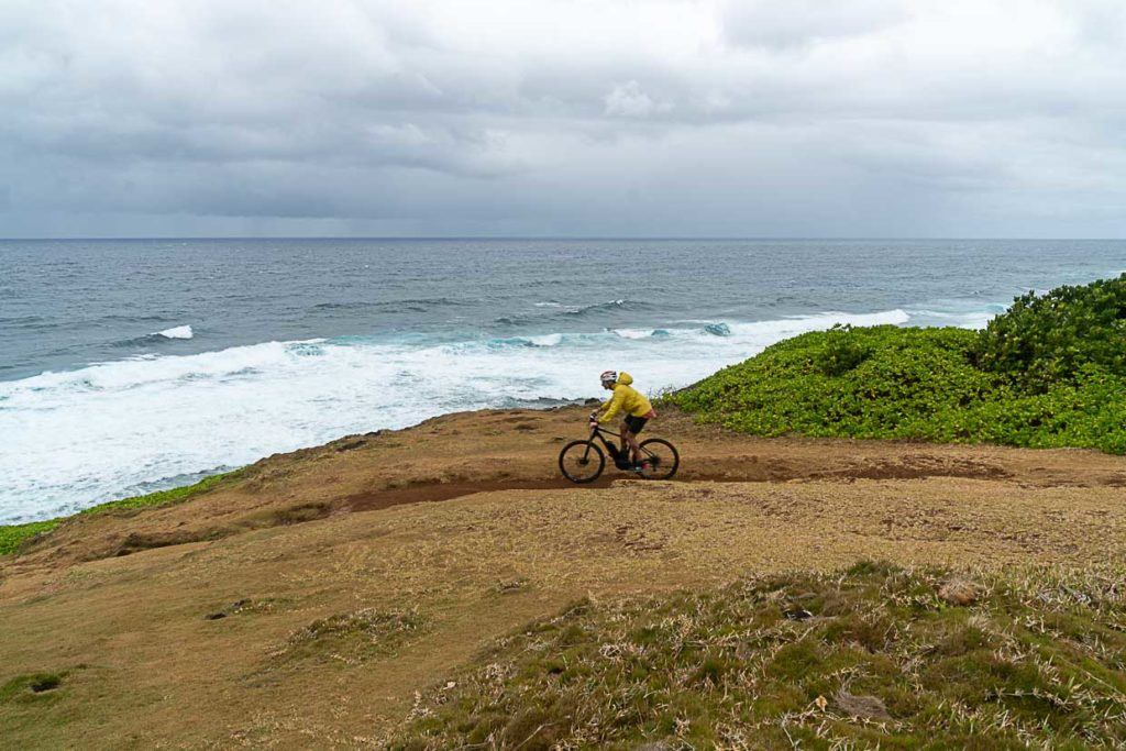 Photo of a cyclist in Mauritius.