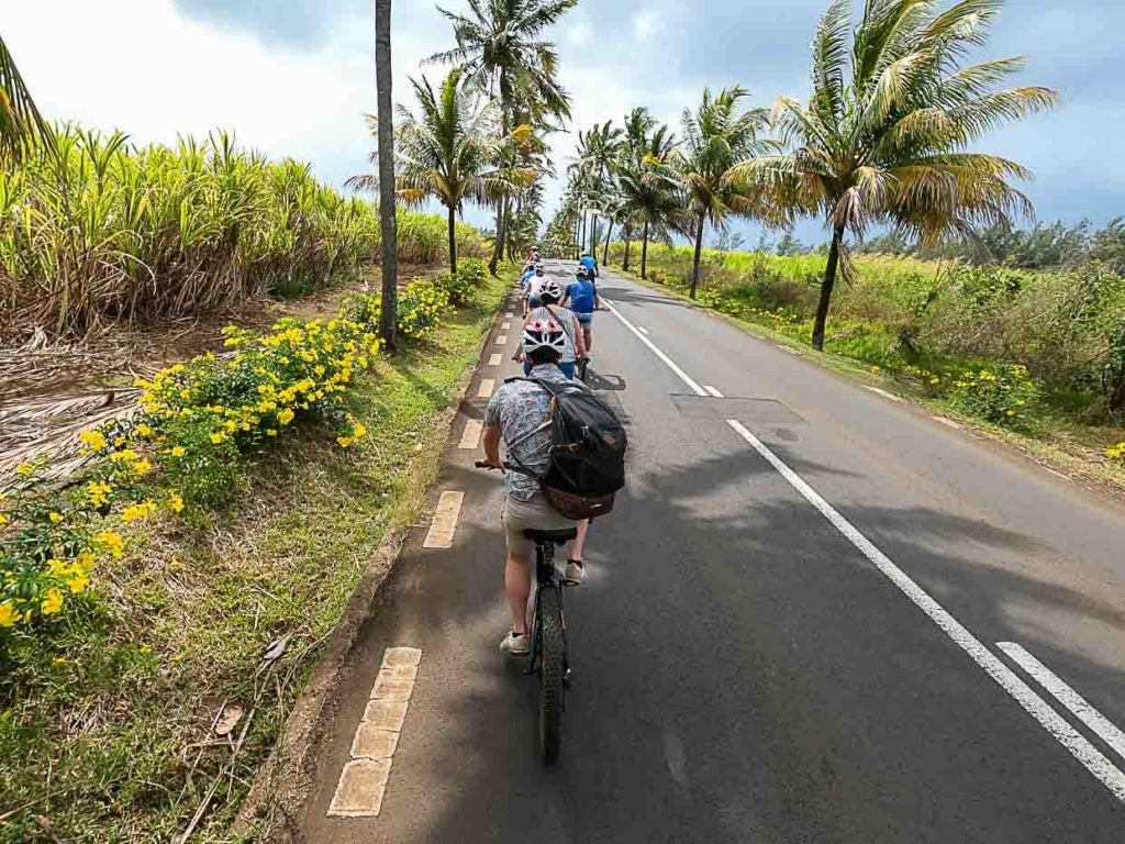 In Mauritius you can join electric bike tours and cycle along sugar cane fields.