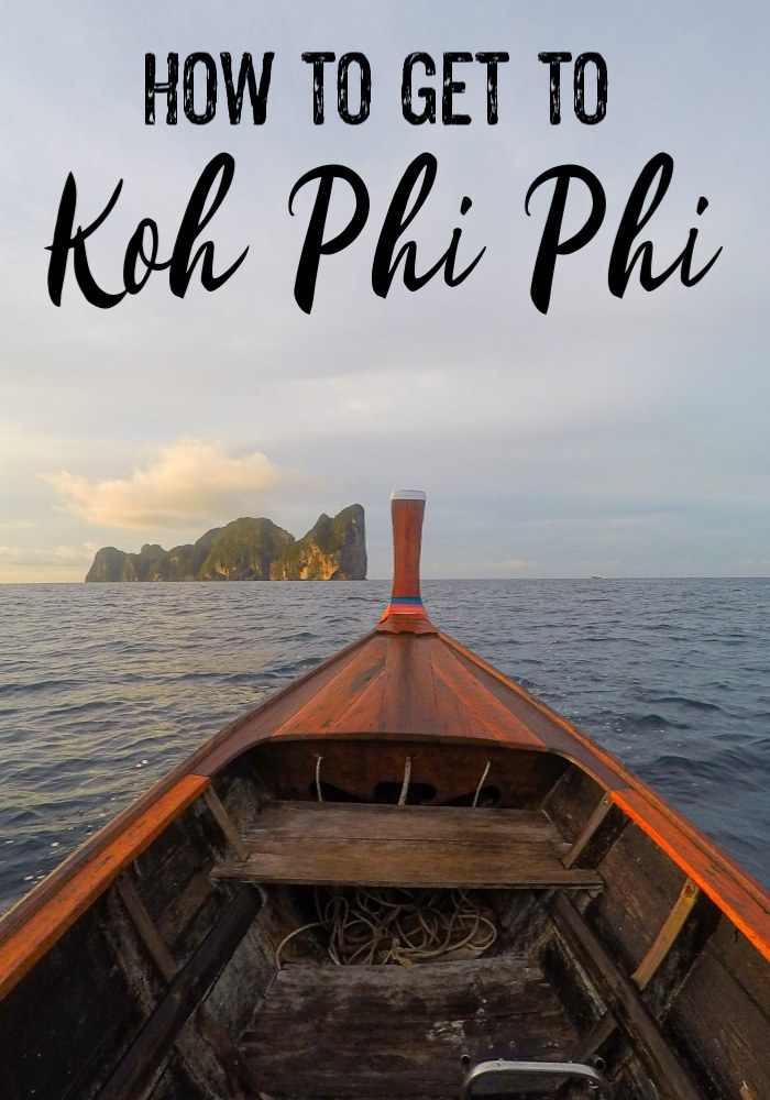 The ultimate guide on how to get to Phi Phi Island from anywhere in Thailand. Tips to travel by plane, bus, train, ferry, and speedboats to Koh Phi Phi. The best connections, timetables, where you can buy the tickets online and how to plan your trip to Koh Phi Phi. #Travel #ThailandTravel #PhiPhi #PhiPhiIsland