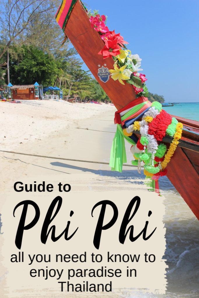 All you need to know to enjoy paradise is here. The ultimate guide to what to do in Phi Phi Islands, Thailand. From where to stay in Phi Phi, best beaches, activities, boat tours, parties and more. Travel tips on how to travel to Koh Phi Phi and get around. #phiphiisland #phiphithingstodo #phiphithailand #thailand #kohphiphihotel