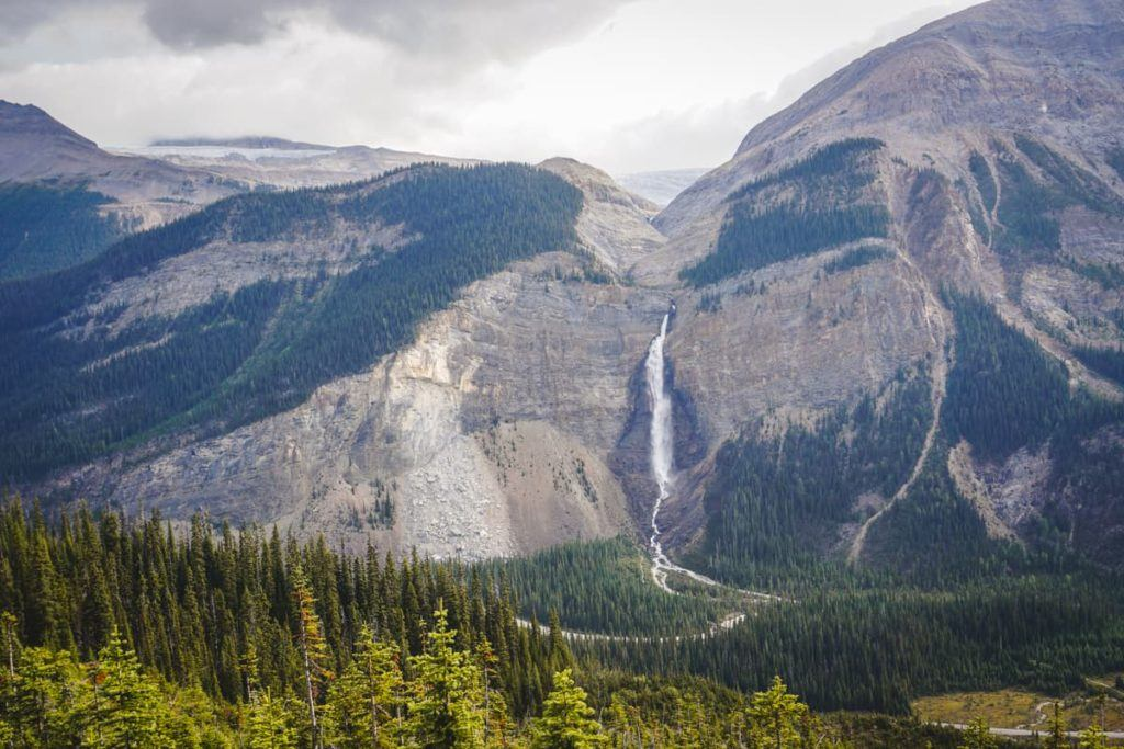 Takakkaw Falls is one of the top attractions in the Canadian Rockies.