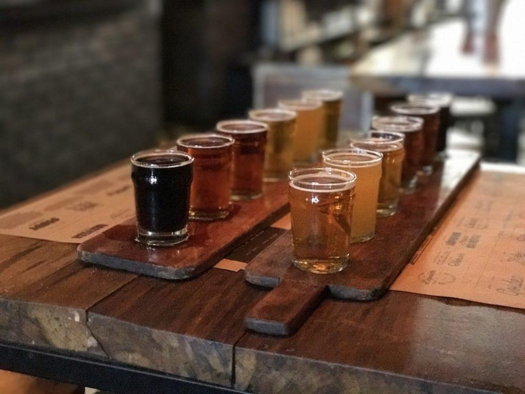 Photo of beer tasting in New York, at Long Island City Pub.