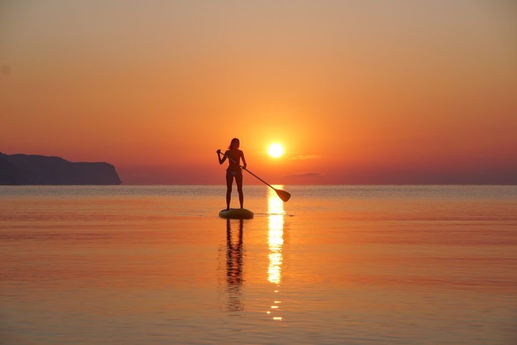 Another cool thing to do in Puerto Pollensa is to do SUP during sunrise.