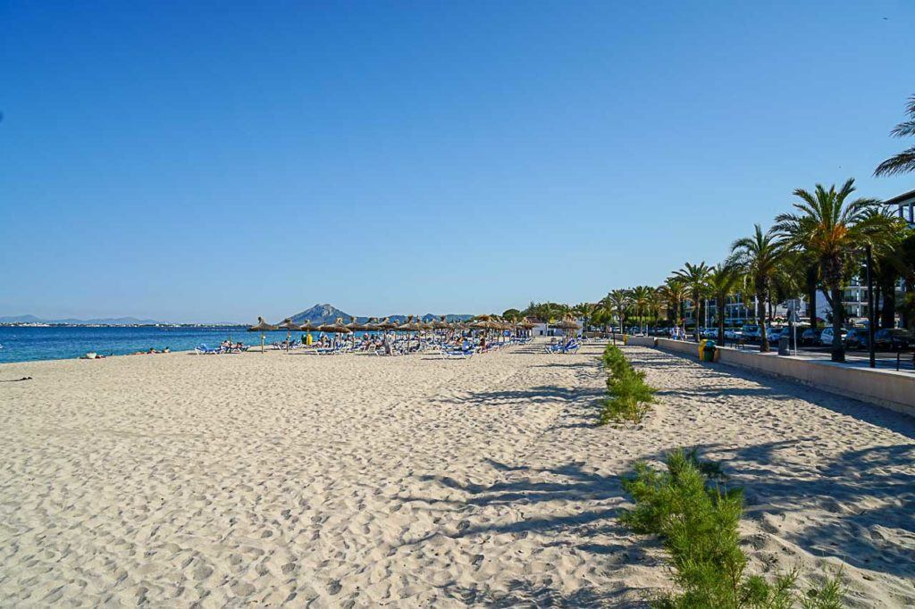 Puerto Pollensa beaches are amazing. You can have urban beaches and also secluded bays.