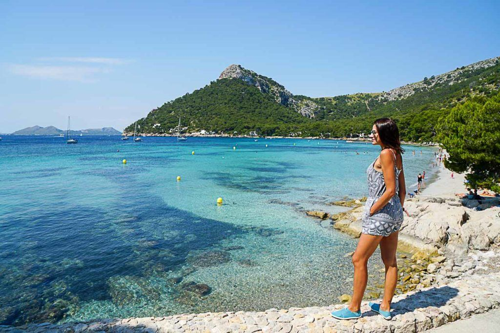 No doubt one of the best beaches in Puerto Pollensa is Formentor Beach.