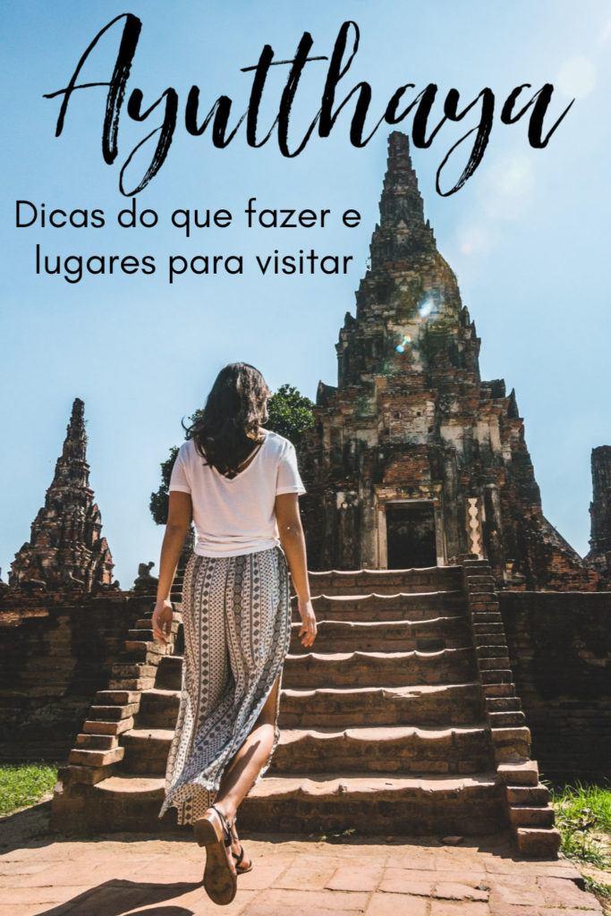 Super guia de viagem para Ayutthaya na Tailândia. Tudo o que você precisa saber para planejar seu passeio de um dia em Ayutthaya ou para um roteiro prolongado. Listamos os lugares para visitar e o que fazer em Ayutthaya desde templos, mercados flutuantes, mercados noturnos, experiências locais, as melhores excursões saindo de Bangkok a Ayutthaya. Além de dicas de onde ficar em Ayutthaya e como se locomover. #AyutthayaTailandia #Ayutthayatemplos #Ayutthayahotel
