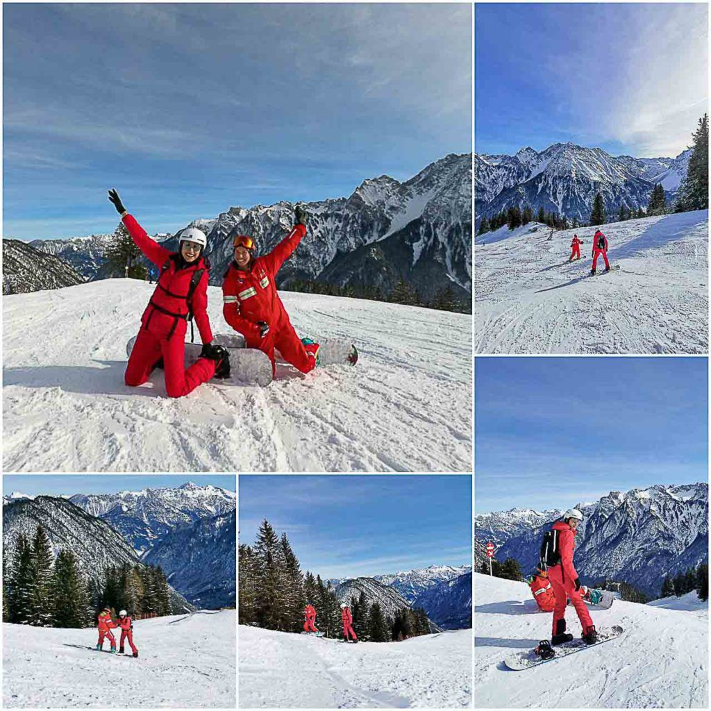 You can get awesome snowboarding lessons with Schischule Brandnertal.