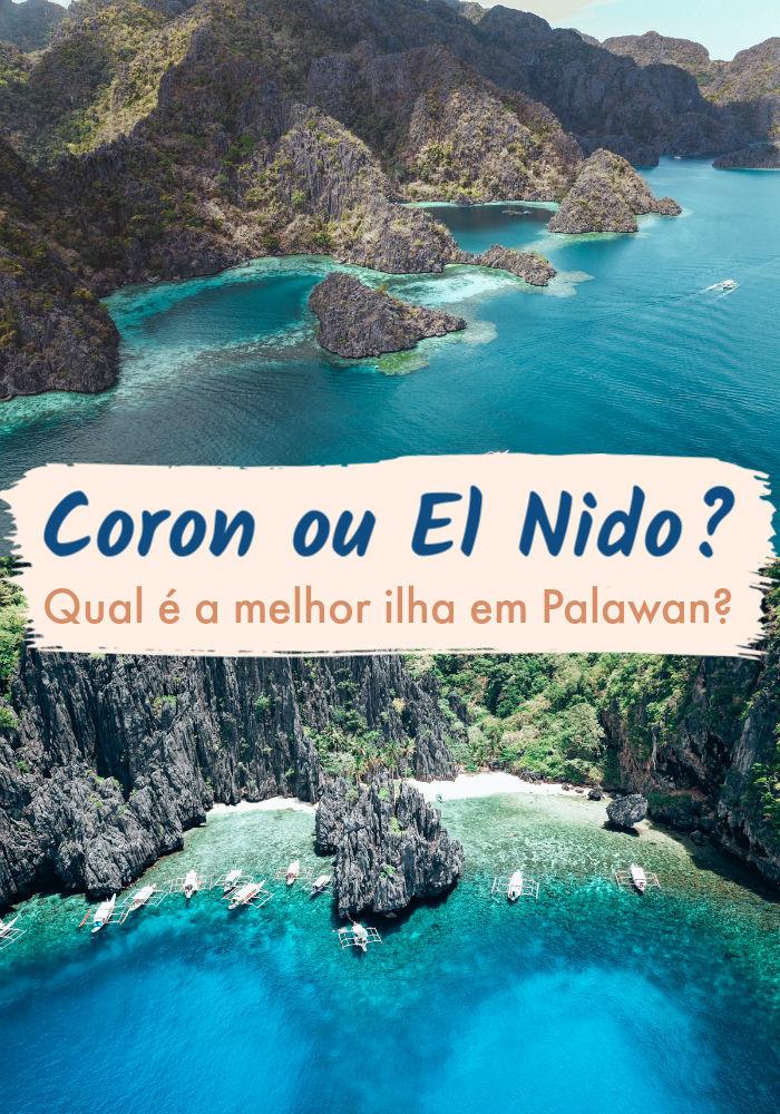 Não foi difícil, mas conseguimos fazer uma comparação detalhada entre as ilhas de Coron e El Nido, em Palawan nas Filipinas. Essas duas ilhas tem belezas incríveis, praias paradisíacas e muita coisa legal para fazer lá. Leia nosso post e descubra as diferenças entre Coron e El Nido, desde atrações, preços, acomodação e transporte. Depois você pode escolher entre Coron ou El Nido, ou quem sabe se convencer de visitar as duas. #coronpalawan #filipinas #palawan #CoronouPalawan #elnido #elnidopraias #palawanfilipinas