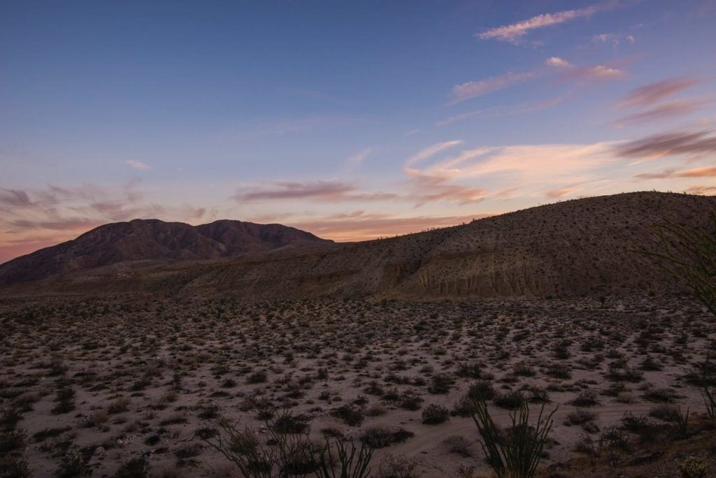 The Anza Borrego Desert is a great escape from the city and one of the best day trips from San Diego for stargazing.