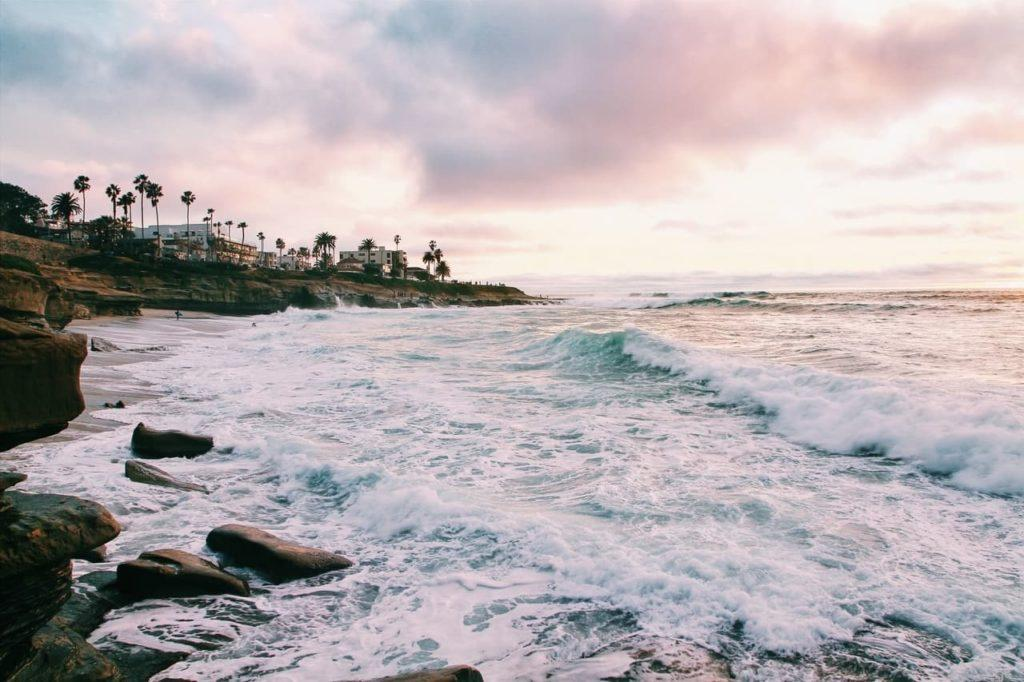 A beach in San Diego, California, USA. Surrounding the city there are nature escapes, historic towns, vineyards and many day-trip opportunities.
