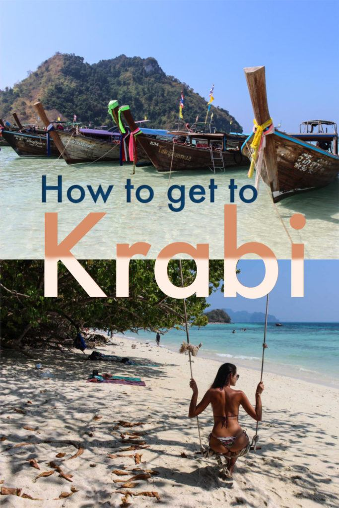 A detailed guide on how to travel to Krabi from anywhere in Thailand. The best options to get to Krabi from Bangkok, Chiang Mai, and Phuket. Travel tips to help you choose the best routes by bus, trains, flights, or ferry to Krabi and how to book your tickets. #thailand #krabi #krabiitinerary #krabitravel