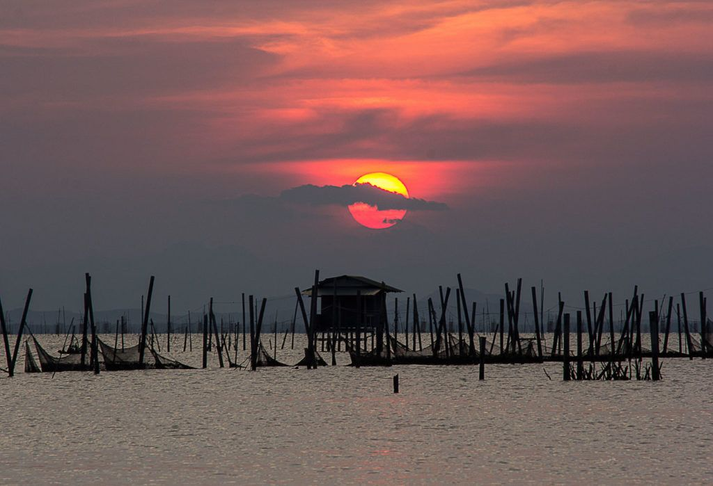 Sunrises and sunsets can be seen in the trip to Hua Hin from Bangkok, Thailand.