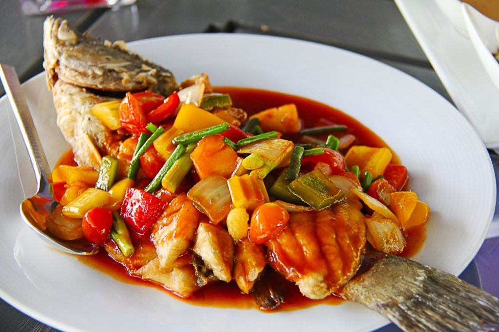 Delicious fish and fresh seafood can be found in Hua Hin, Thailand.