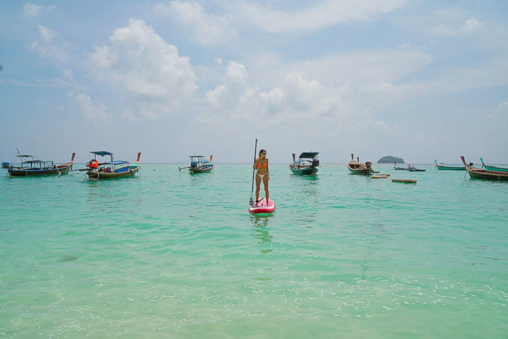 Looking for things to do in Koh Lipe? Try some stand-up paddleboarding!