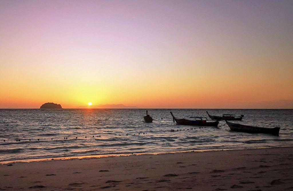 Welcoming the sun at Sunrise Beach.