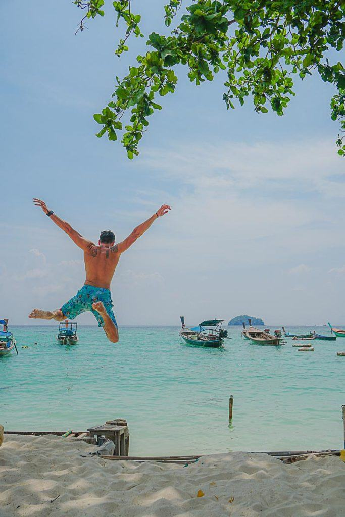 Sunrise Beach is the longest and most beautiful beach in Koh Lipe, Thailand.