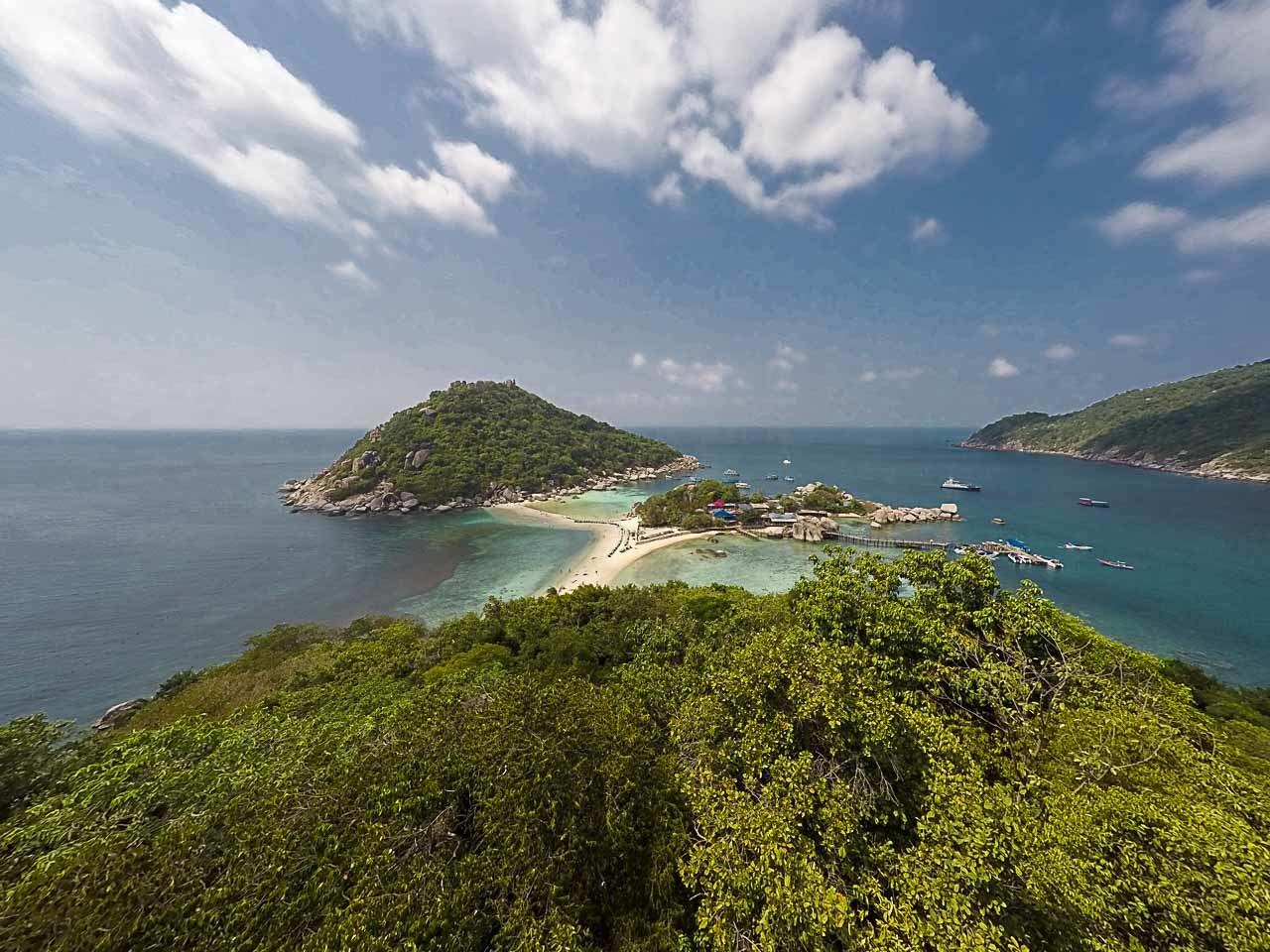 Koh Nang Yuan is a small island you can visit from Koh Tao.