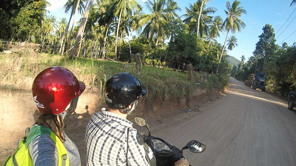 Getting around the island on a motorbike is the best.