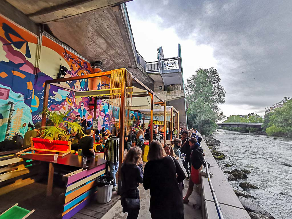 The Citybeach Graz bar at the banks of Mur River is one of the coolest things to do in Graz.
