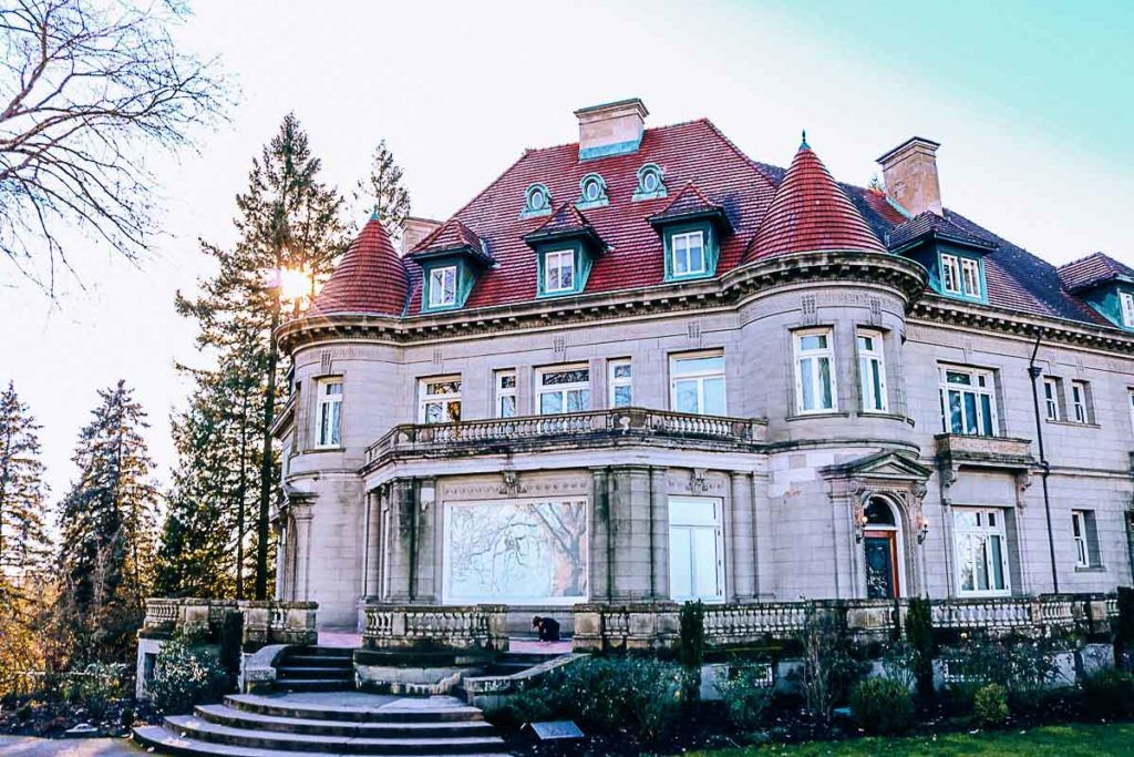 If you're looking for beautiful views of the city, make sure to include in your Portland travel costs a visit to Pittock Mansion, a French-style chateau on the peak of the West Hills of Portland.