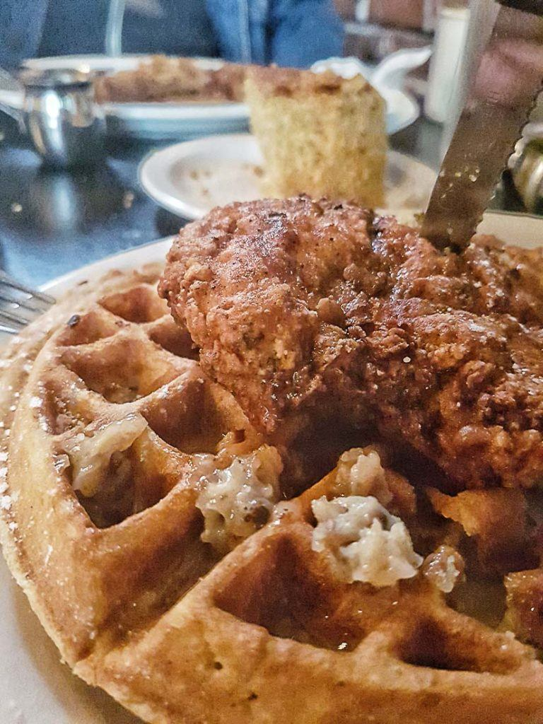 Savouring a chicken waffles is a must while visiting Portland